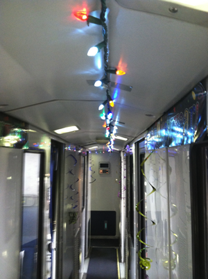 Decorated Amtrak Car